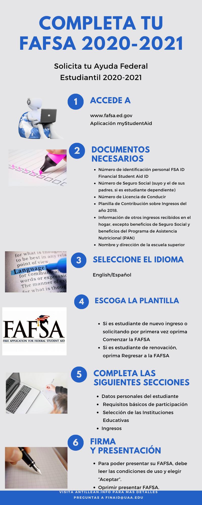 Completa tu FAFSA 2020-2021